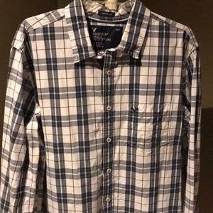 Men's Tall plaid Oxford by American Eagle XLT